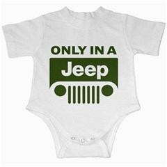 Only In A Jeep Logo Infant Creepers