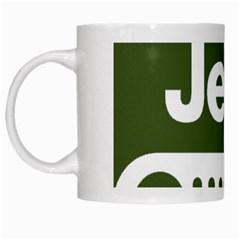 Only In A Jeep Logo White Mugs