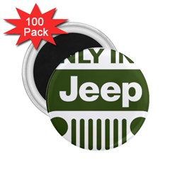 Only In A Jeep Logo 2 25  Magnets (100 Pack)