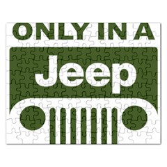 Only In A Jeep Logo Rectangular Jigsaw Puzzl