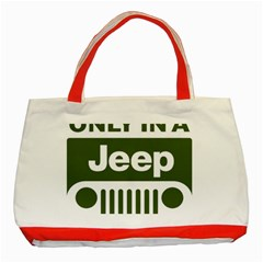 Only In A Jeep Logo Classic Tote Bag (red)