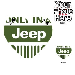 Only In A Jeep Logo Playing Cards 54 (heart)
