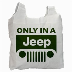 Only In A Jeep Logo Recycle Bag (one Side)