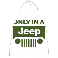 Only In A Jeep Logo Full Print Aprons