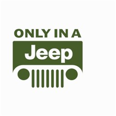 Only In A Jeep Logo Small Garden Flag (two Sides)