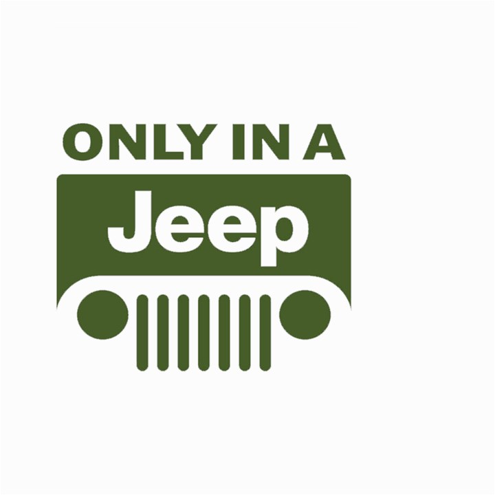Only In A Jeep Logo Large Garden Flag (Two Sides)