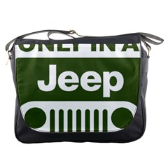 Only In A Jeep Logo Messenger Bags