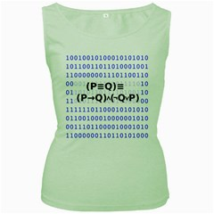 Logic Eqn Women s Green Tank Top