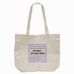 Logic Eqn Tote Bag (cream)