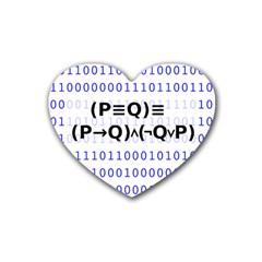 Logic Eqn Heart Coaster (4 Pack)
