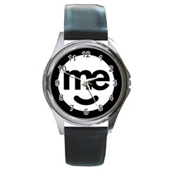 Me Logo Round Metal Watch