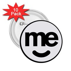 Me Logo 2 25  Buttons (10 Pack)