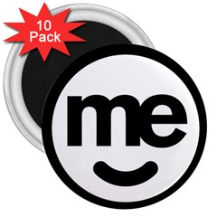 Me Logo 3  Magnets (10 Pack)
