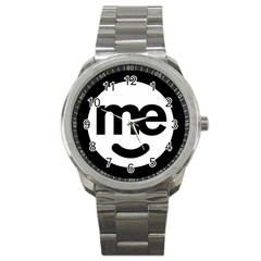 Me Logo Sport Metal Watch