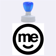 Me Logo Rubber Round Stamps (Large)