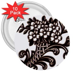 Purple Wood Ornaments 3  Buttons (10 Pack)