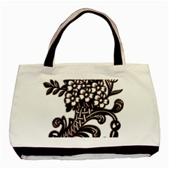 Purple Wood Ornaments Basic Tote Bag (two Sides)