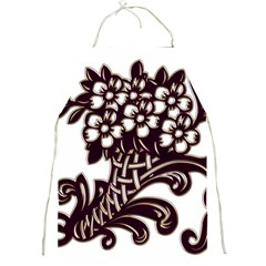 Purple Wood Ornaments Full Print Aprons
