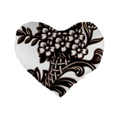 Purple Wood Ornaments Standard 16  Premium Heart Shape Cushions