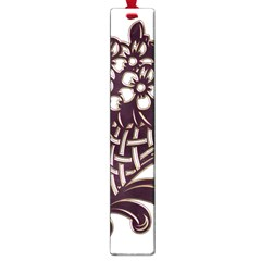 Purple Wood Ornaments Large Book Marks