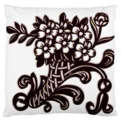 Purple Wood Ornaments Standard Flano Cushion Case (two Sides)
