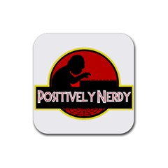Positively Nerdy Rubber Square Coaster (4 Pack)