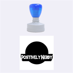 Positively Nerdy Rubber Round Stamps (Medium)