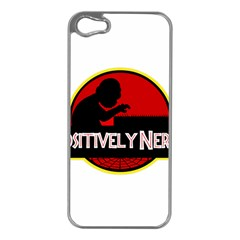 Positively Nerdy Apple Iphone 5 Case (silver)