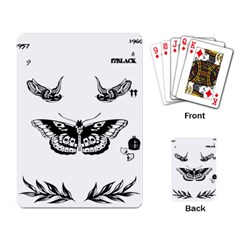 Harry Styles Tattoos Playing Card