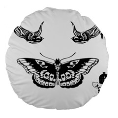 Harry Styles Tattoos Large 18  Premium Round Cushions