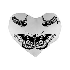 Harry Styles Tattoos Standard 16  Premium Heart Shape Cushions