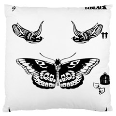 Harry Styles Tattoos Large Flano Cushion Case (two Sides)