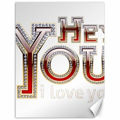 Hey You I Love You Canvas 12  X 16