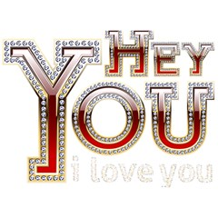 Hey You I Love You Birthday Cake 3d Greeting Card (7x5)