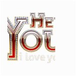 Hey You I Love You Large Garden Flag (Two Sides) Front