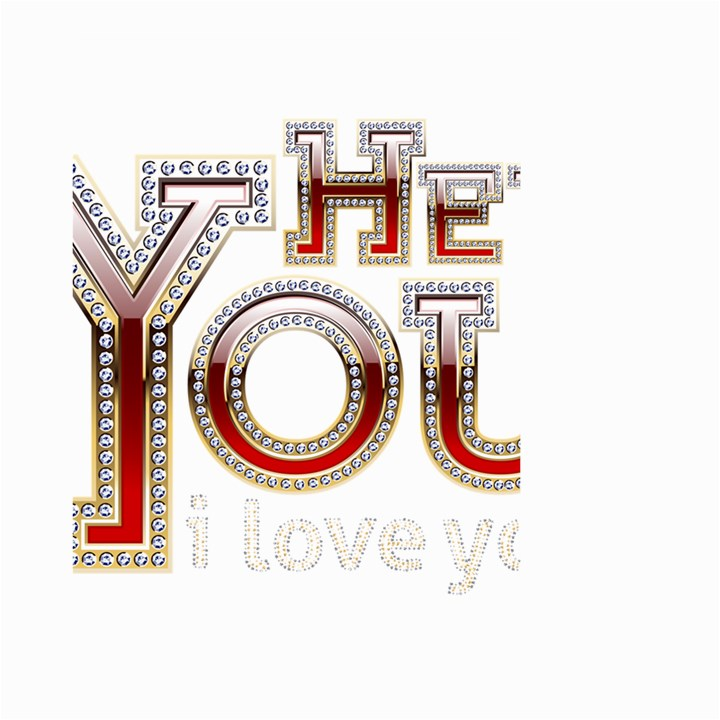 Hey You I Love You Large Garden Flag (Two Sides)