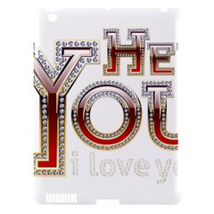 Hey You I Love You Apple Ipad 3/4 Hardshell Case (compatible With Smart Cover)
