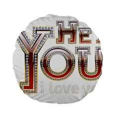 Hey You I Love You Standard 15  Premium Round Cushions