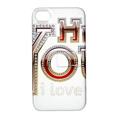 Hey You I Love You Apple Iphone 4/4s Hardshell Case With Stand