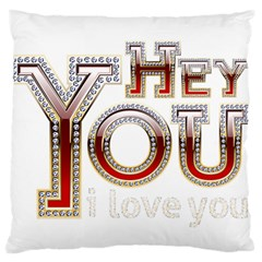 Hey You I Love You Standard Flano Cushion Case (two Sides)