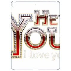Hey You I Love You Apple Ipad Pro 12 9   Hardshell Case