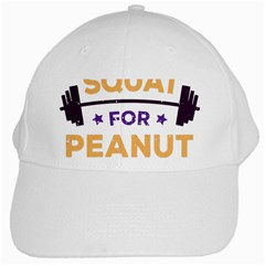 Will Squat For Peanut Butter White Cap