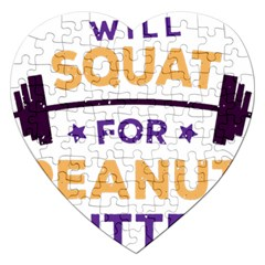 Will Squat For Peanut Butter Jigsaw Puzzle (heart)