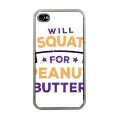 Will Squat For Peanut Butter Apple Iphone 4 Case (clear)