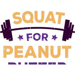 Will Squat For Peanut Butter Birthday Cake 3d Greeting Card (7x5)