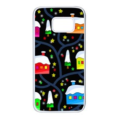 Winter magical night Samsung Galaxy S7 White Seamless Case