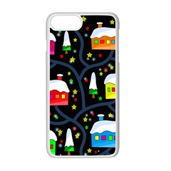 Winter Magical Night Apple Iphone 7 Plus White Seamless Case