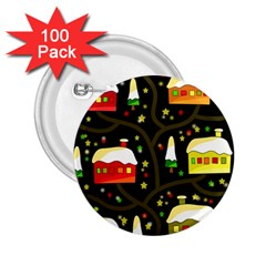 Winter  night  2.25  Buttons (100 pack)