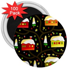 Winter  night  3  Magnets (100 pack)