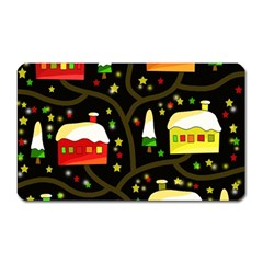 Winter  night  Magnet (Rectangular)
